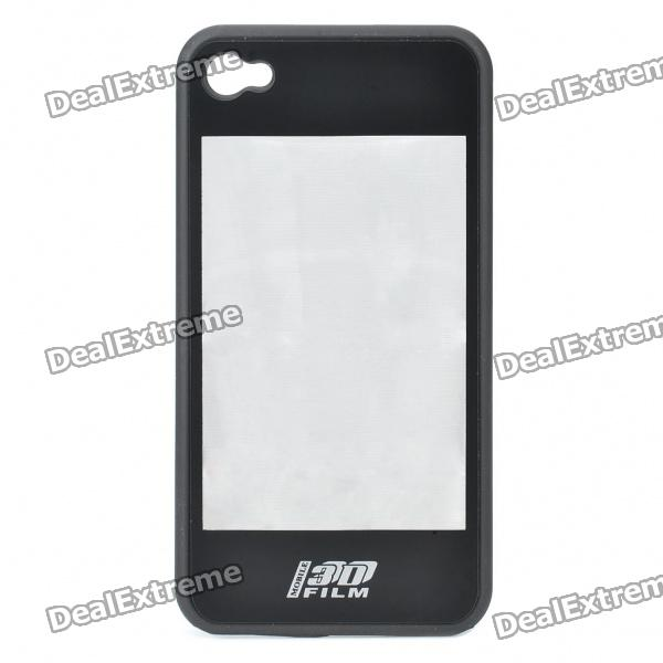 купить 2-in-1 3D Movie Watching Case Protective Back Case for Iphone 4 - Black недорого