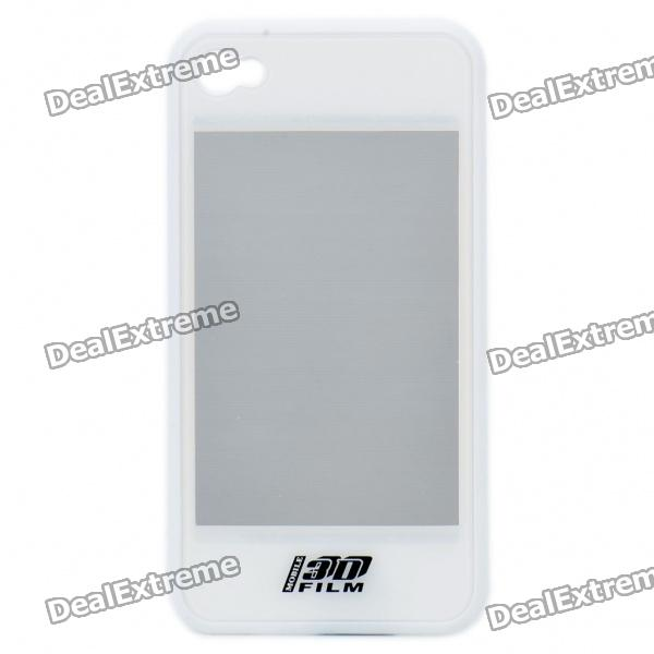 купить 2-in-1 3D Movie Watching Case Protective Back Case for Iphone 4 - White недорого