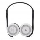 Folding Portable Sports Bluetooth Stereo Headphone w/ MP3/FM/TF/MIC - Grey + White