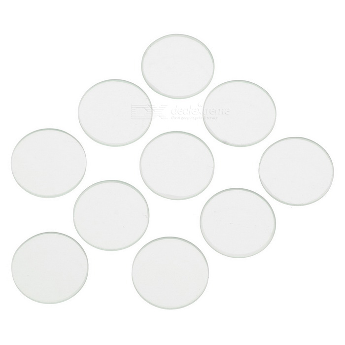 Glass Lens for Flashlights 10-Pack (15.7mm x 1.2mm)