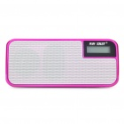 "SAST 1,2 ""LCD USB aufladbare MP3-Player Speaker w / FM/USB/TF/3.5mm AUX - Deep Pink"