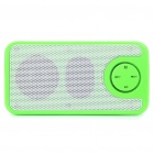 SAST Rechargeable MP3 Player Speaker w / FM/TF/USB/3.5mm AUX - Green