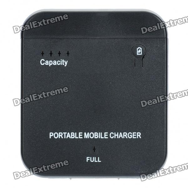 1900mAh Handy External Battery Power Charger for iPhone 4S - Black