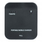 1900mAh Mobile External Battery Power Charger for iPhone 4S - Black