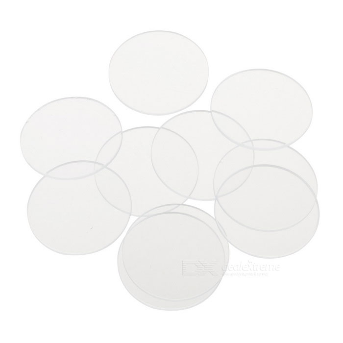 Glass Lens for Flashlights 10-Pack (26.9mm x 1.2mm)