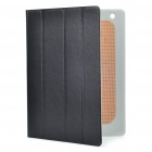 Stylish Protective PU Leather Case w/ Smart Cover for iPad 2 - Black