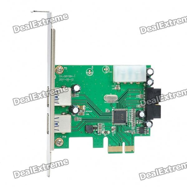 Super Speed ​​2-Port USB 3.0 PCI-E Express Card (5 Gbps)