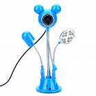 Cute Micky Style 300KP Camcorder w/ Microphone/2 x USB Socket/2-Blade Fan/12-LED White Lamp - Blue