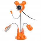 Cute Micky Mouse 300KP Camcorder w/ Microphone / Fan /12-LED White Lamp - Orange