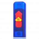 USB Rechargeable Electronic Cigarette Lighter - Blue + Red