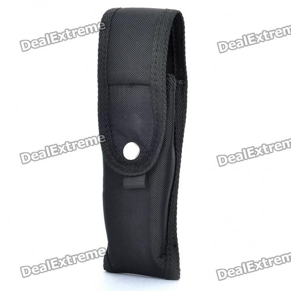 Durable Cloth Holster with Strap for Flashlight - Black от DX.com INT