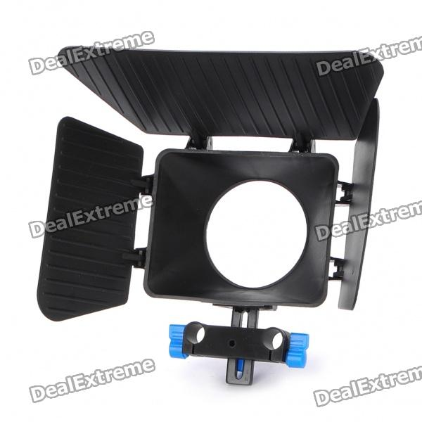 Three Blades Camera Lens Light Sunshade - Black
