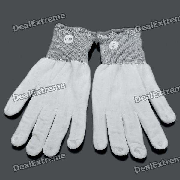 3-Mode Colorful Flashing Gloves (2 x CR2016/Pair)
