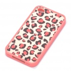 Protective Bumper Frame with Back Case for iPhone 4 - White + Pink