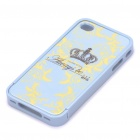 Protective Bumper Frame with Back Case for iPhone 4 - Blue