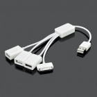 USB Male to 30-Pin Dock Cable with 3-Port USB Hub for iPhone 3G/4