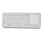 Rii Mini i6 2-in-1 72-Key Bluetooth Keyboard w/ Trackpad + Universal IR Remote Controller - White