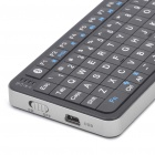 Rii Mini i6 2-em-1 72-Key Keyboard Bluetooth w / Trackpad + Universal IR Remote Controller - Preto