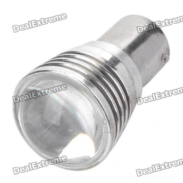 1156 3W 7000K 160-Lumen 1-LED White Light Convex Lens Car Braking Lamp (DC 8~30V)