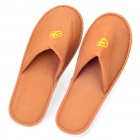 Foam Sole Towel Cloth Slippers - Coffee (Pair)