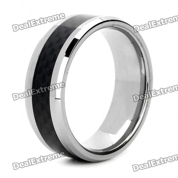 Kineve Finger Ring for Men - Silver + Brown