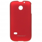 Protective PC Back Case w/ Screen Protector + Cleaning Cloth for Huawei M865/C8650/C8600 - Deep Red