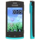 "N500 3.2"" Touch Screen Dual SIM Quadband TV Cellphone w/ JAVA + FM - Black + Blue"