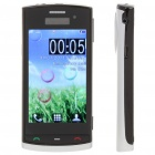 "N500 3.2"" Touch Screen Dual SIM Quadband TV Cellphone w/ JAVA + FM - Black + Silver"