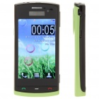 "N500 3.2"" Touch Screen Dual SIM Quadband TV Cellphone w/ JAVA + FM - Black + Green"