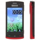 "N500 3.2"" Touch Screen Dual SIM Quadband TV Cellphone w/ JAVA + FM - Black + Red"