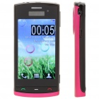 "N500 3.2"" Touch Screen Dual SIM Quadband TV Cellphone w/ JAVA + FM - Black + Deep Pink"