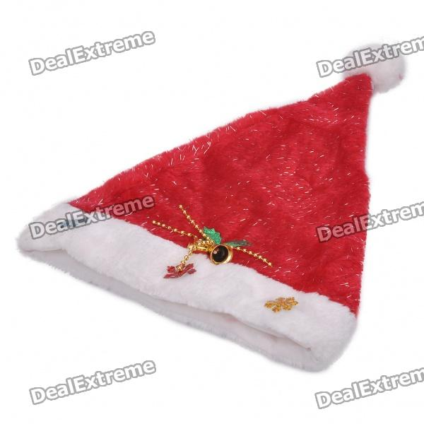 christmas-hat-with-bells-snow-ornaments