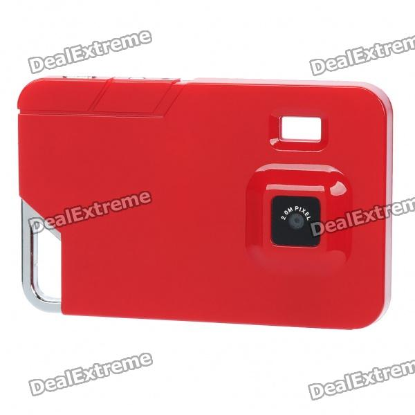 Ultra-Thin-Karte Stil Rechargeable 2MP Digital Video Camcorder mit TF Slot - Red