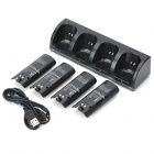 Charger Dock Stand + 4 x Battery Pack for Nintendo Wii - Black (2800mAh)