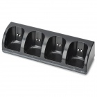 Charger Dock Stand + 4*2800mAh Battery Packs for Nintendo Wii - Black