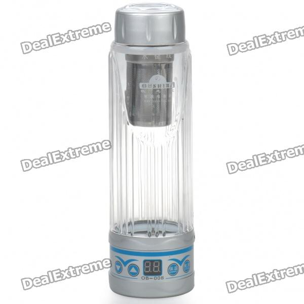 Car Cigarette Lighter Powered Electric Water Heater Bottle - Silver (420ml / DC 12~24V)
