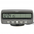"3.8"" LCD Car Indoor/Outdoor Digital Temperature w/ Clock - Grey (2 x LR44 / DC 9~16V)"