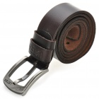 PouchKan Stylish Cow Leather Men's Belt w/ Zinc Alloy Buckle - Brown