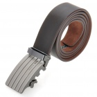 PouchKan Stylish Cow Leather Men's Belt w/ Zinc Alloy Buckle - Coffee