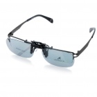 Clip-On Non-Flash Circularly Polarized 3D Glasses - Black + Grey