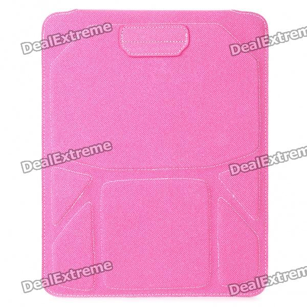 Protective PU Leather Case Pouch for iPad 2/Samsung P7500/7510 - Deep Pink