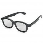 Stylish Non-Flash Circularly Polarized 3D Glasses - Grey + Black