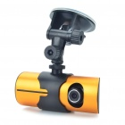 "2.7"" TFT LCD 720P 3.0MP + 1.3MP Dual-Lens Car DVR Camcorder with TF / GPS Interface - Orange"