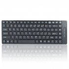 Mini 87-Key USB Wired Keyboard - Black
