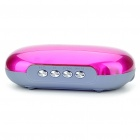 Rechargeable Portable Music Speaker Player with TF/USB/AUX - Deep Pink