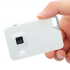 Ultra-Thin Card Style Rechargeable 2MP Digital Video Camera Camcorder with TF Slot - White