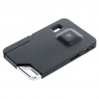 Ultra-Thin Card Style Rechargeable 1.3 MP Digital Video Camera Camcorder with TF Slot - Black