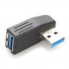 USB 3.0 Male to Female 90 Degree Adapter - Black