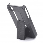 New Stylish Standable Protective Case with Dustproof Plug for Iphone 4/4S - Black