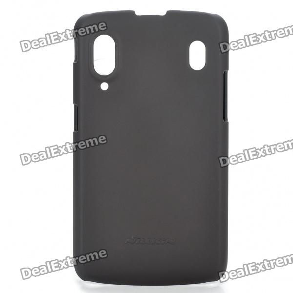 NILLKIN Protective PC Back Case with Screen Protector Film for ZTE V960 - Chocolate Color